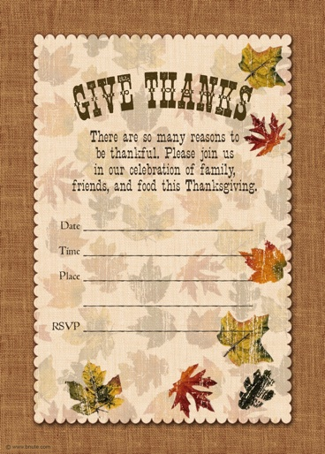 Holiday Party FREE PRINTABLE Autumn Free Printable Give