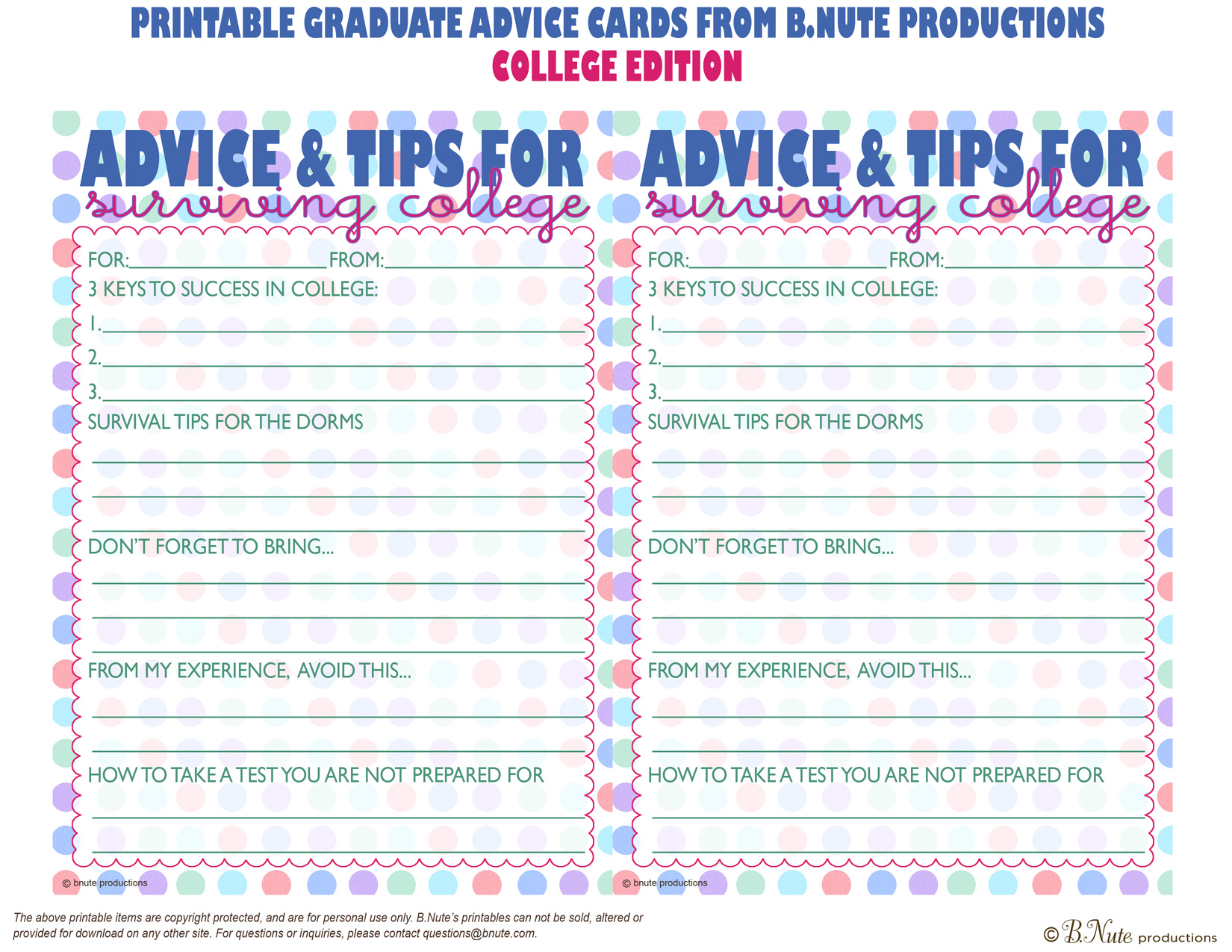 Effortless image with regard to free printable graduation advice cards