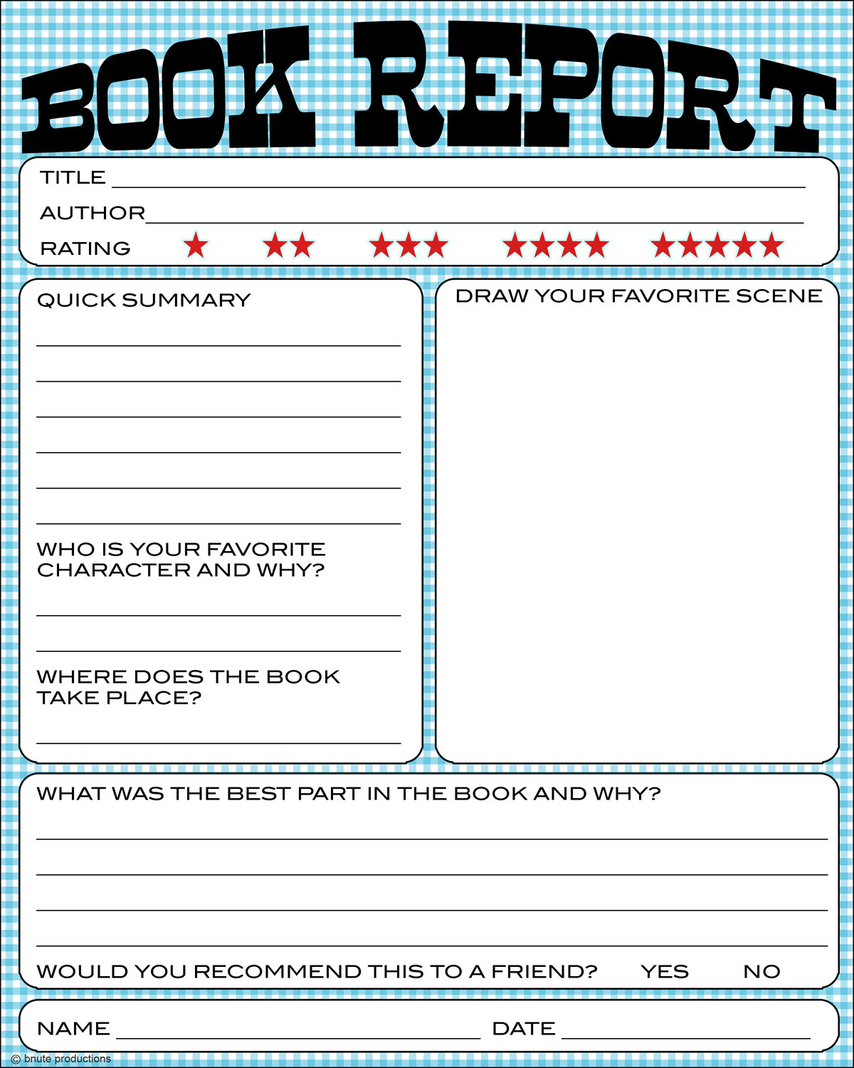Printable Book Report on want to just download the first worksheet ...